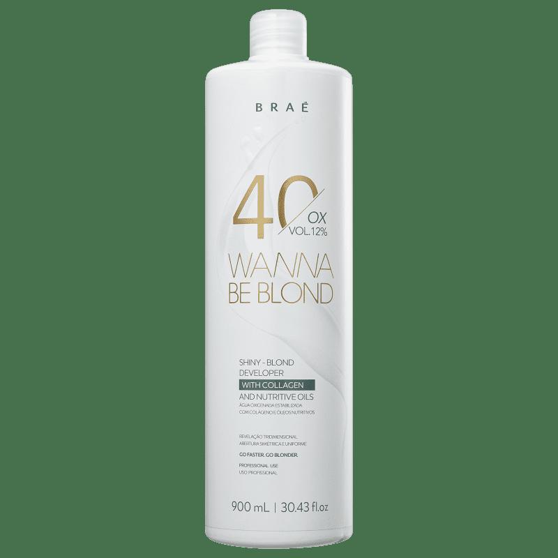 BRAÉ Wanna Be Blond 12% - Água Oxigenada 40 Volumes 900ml