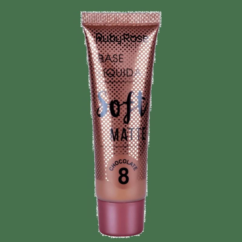 Ruby Rose Soft Matte 8 Chocolate - Base Líquida 29ml