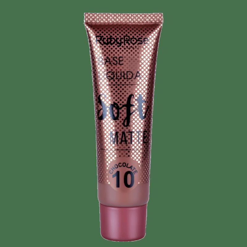 Ruby Rose Soft Matte 10 Chocolate - Base Líquida 29ml