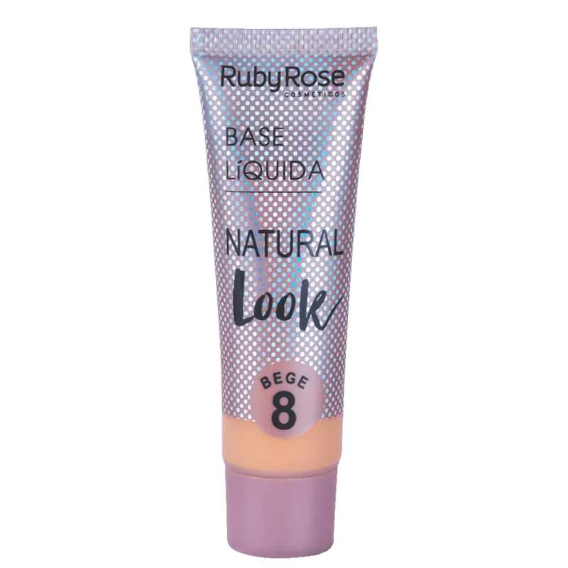 Ruby Rose Natural Look Bege 8 - Base Líquida 29ml