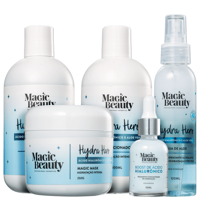 Kit Magic Beauty Hydra Hero Completo (5 Produtos)