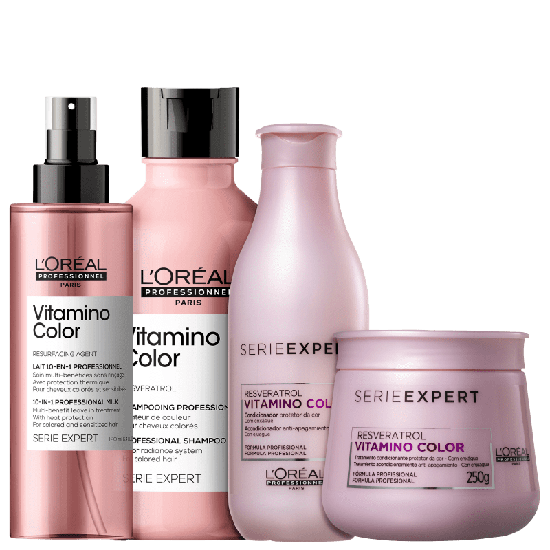 Kit L'Oréal Professionnel Serie Expert Vitamino Color Resveratrol Full (4 Produtos)