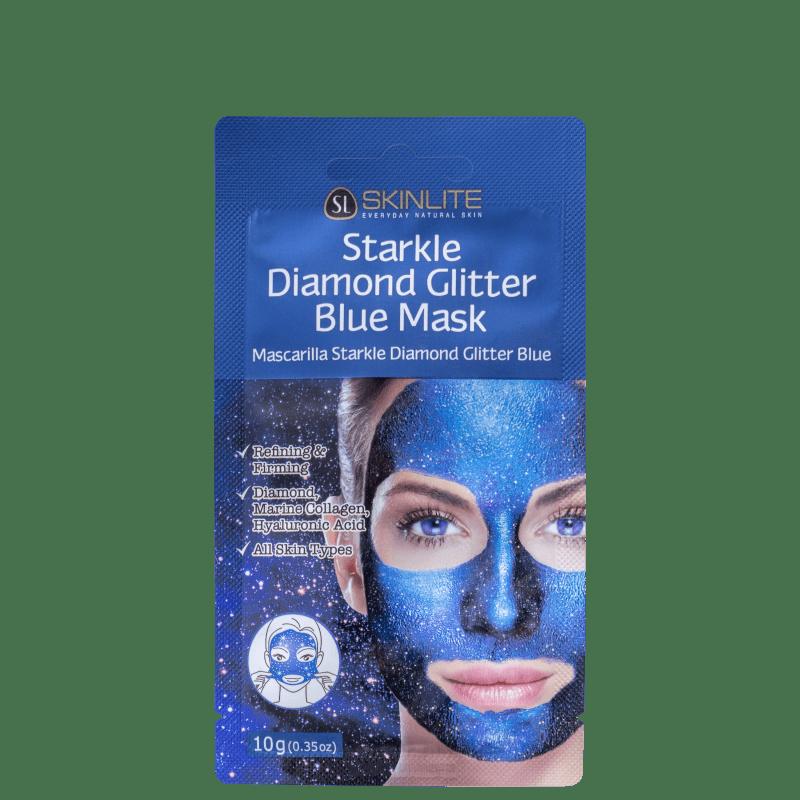 Skinlite Starkle de Diamante com Glitter Azul - Máscara Facial 10g