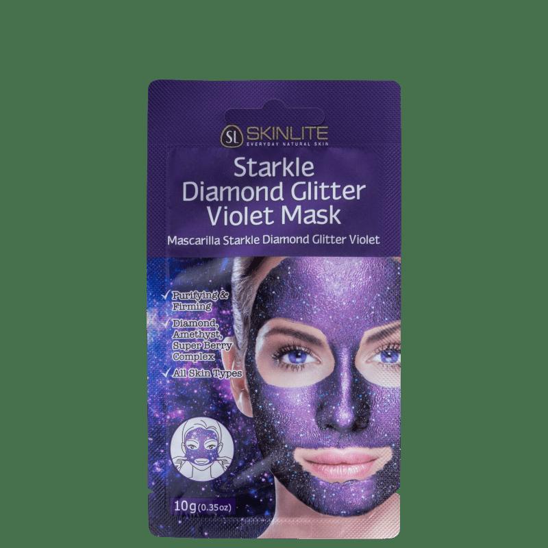 Skinlite Starkle de Diamante com Glitter Violeta - Máscara Facial 10g