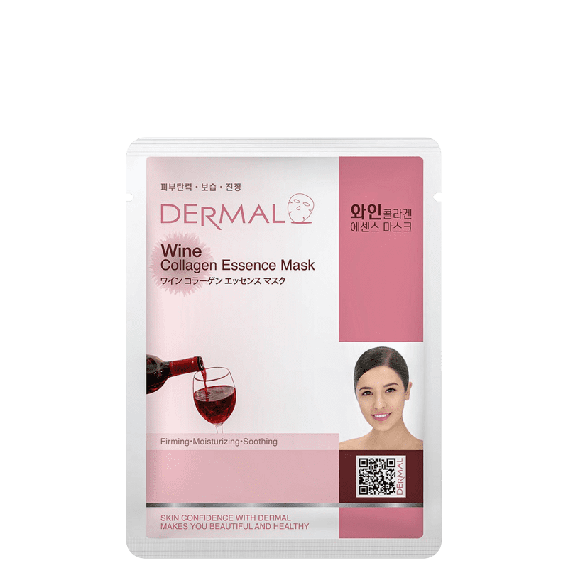 Dermal Wine Collagen Essence - Máscara Facial (1 Unidade)