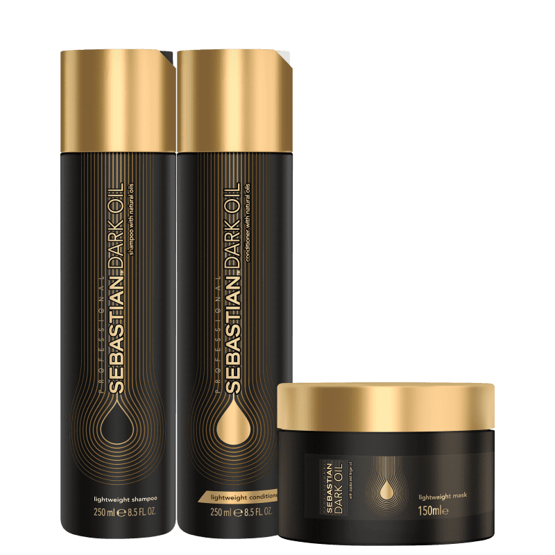 Kit Sebastian Professional Dark Oil Home Care Trio (3 Produtos)
