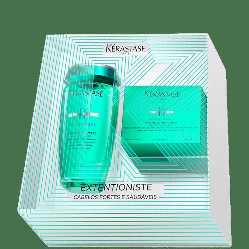 Kit Kérastase Résistance Extentioniste Treatment Shampoo 250ml + Máscara 200g