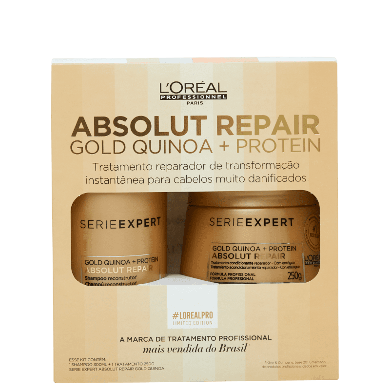 Kit L'Oréal Professionnel Serie Expert Absolut Repair Gold Quinoa + Protein Treatment (2 Produtos)