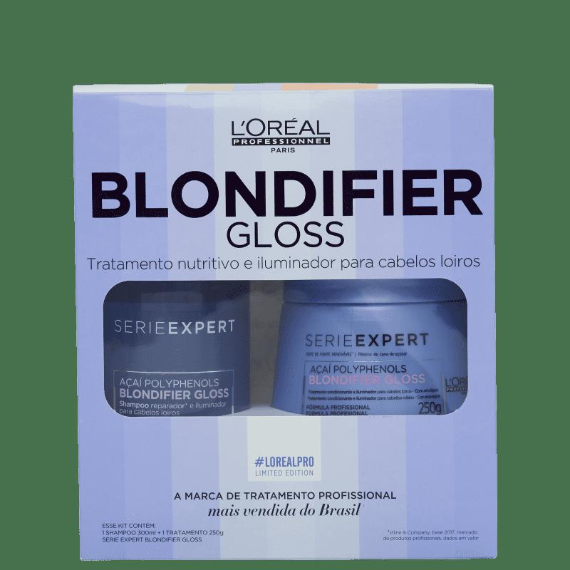 Kit L'oréal Professionnel Blondifier Gloss Treatment Shampoo 300ml + Máscara 250g