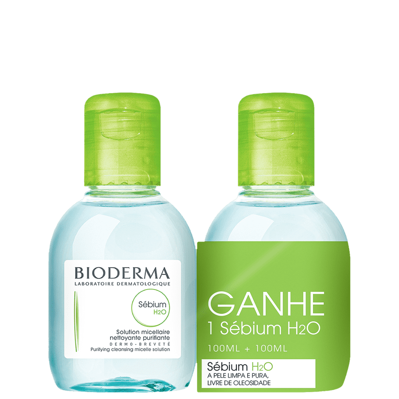 Kit Bioderma Sébium H2O - Águas Micelares 2X100ml