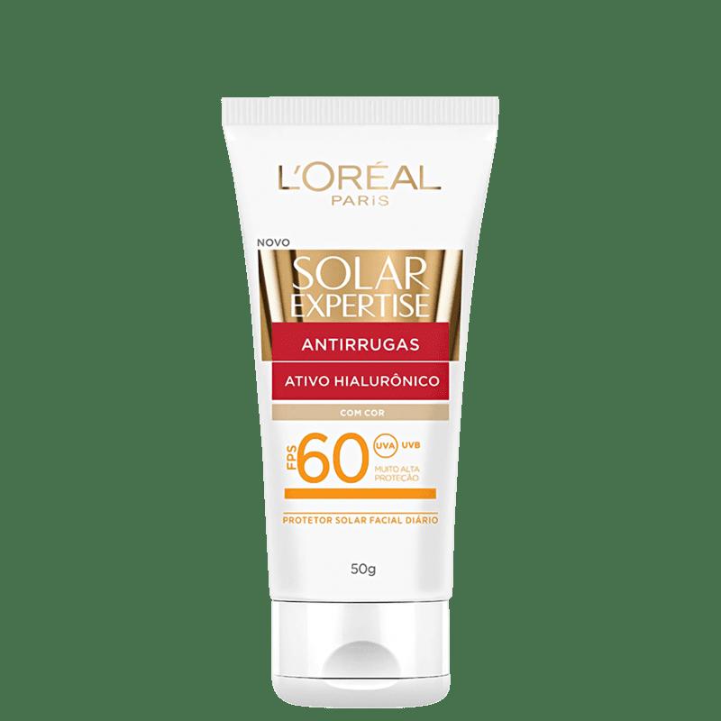 L'Oréal Paris Solar Expertise Antirrugas FPS 60 Com Cor - Protetor Solar Facial 50g