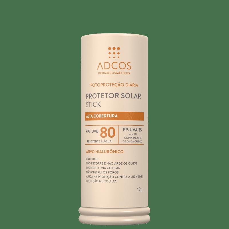 Adcos Stick FPS 80 Peach - Protetor Solar com Cor 12g