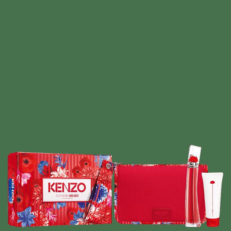 Conjunto Flower by Kenzo Feminino - Eau de Parfum 50ml + Loção Hidratante 75ml + Nécessaire
