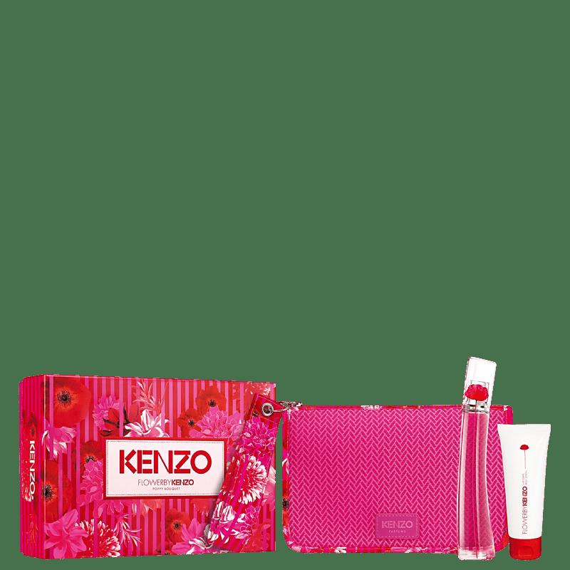 Kit Flower by Kenzo Poppy Bouquet Feminino Eau de Parfum 50ml + Loção Corporal 75ml + Nécessaire
