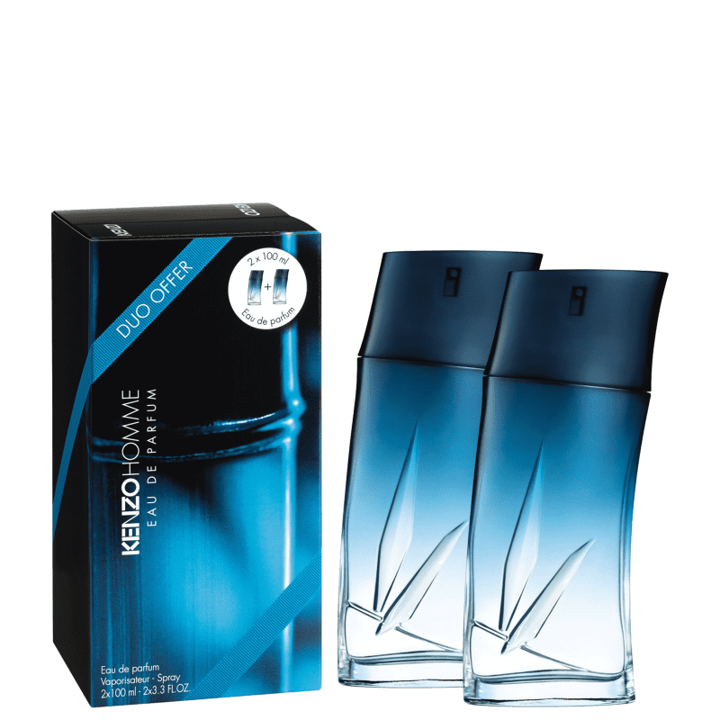 Conjunto Pack Kenzo Homme Eau de Parfum - Perfume Masculino 2x100ml