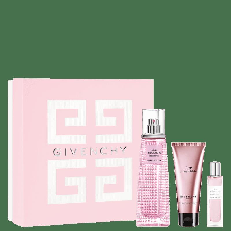 Conjunto Live Irrésistible Blossom Crush Givenchy Feminino - Eau de Toilette 75ml + Eau de Toilette 15ml + Loção Hidratante 75ml