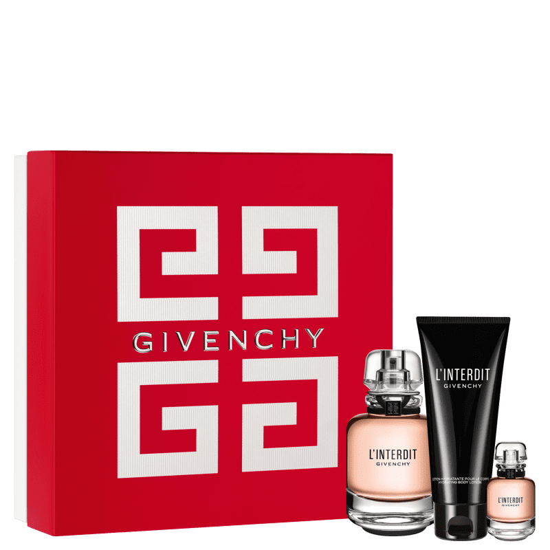 Conjunto L'Interdit Givenchy Feminino - Eau de Parfum 80ml + Eau de Parfum 10ml + Loção Corporal 75ml