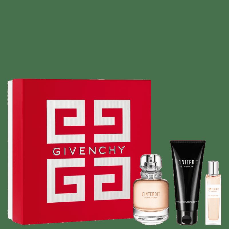 Conjunto L'Interdit Givenchy Feminino - Eau de Toilette 80ml + Eau de Toilette 15ml + Loção Corporal 75ml