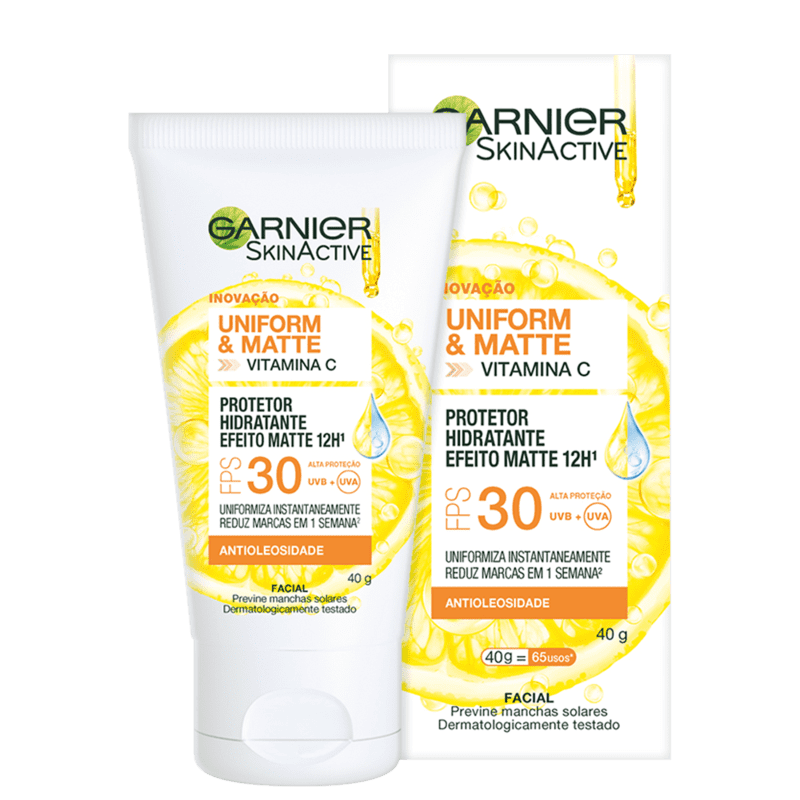 Garnier SkinAtive Uniform & Matte Vitamina C FPS30 - Hidratante Facial 40g