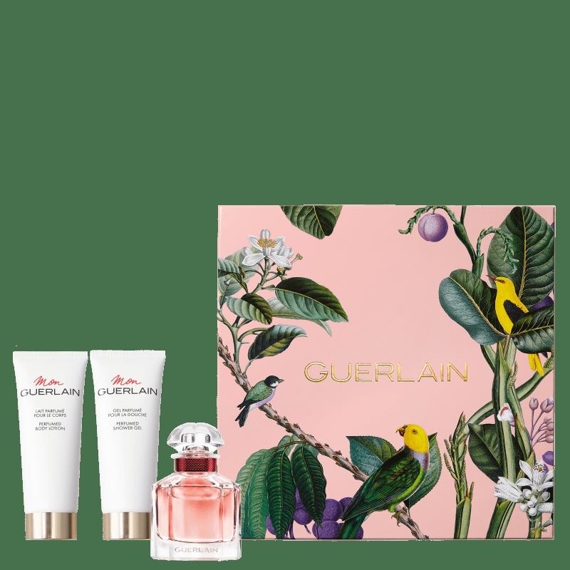 Conjunto Mon GUERLAIN Bloom of Rose Guerlain - Eau de Parfum 50ml + Loção Corporal 75ml + Gel de Banho 75ml