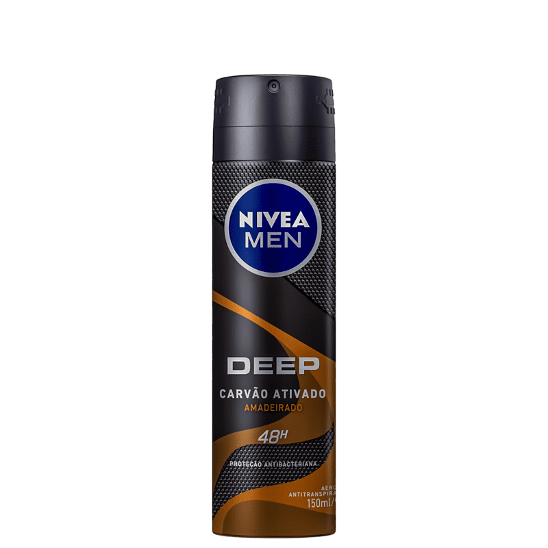NIVEA Men Deep Amadeirado Aerossol - Desodorante Masculino 150ml