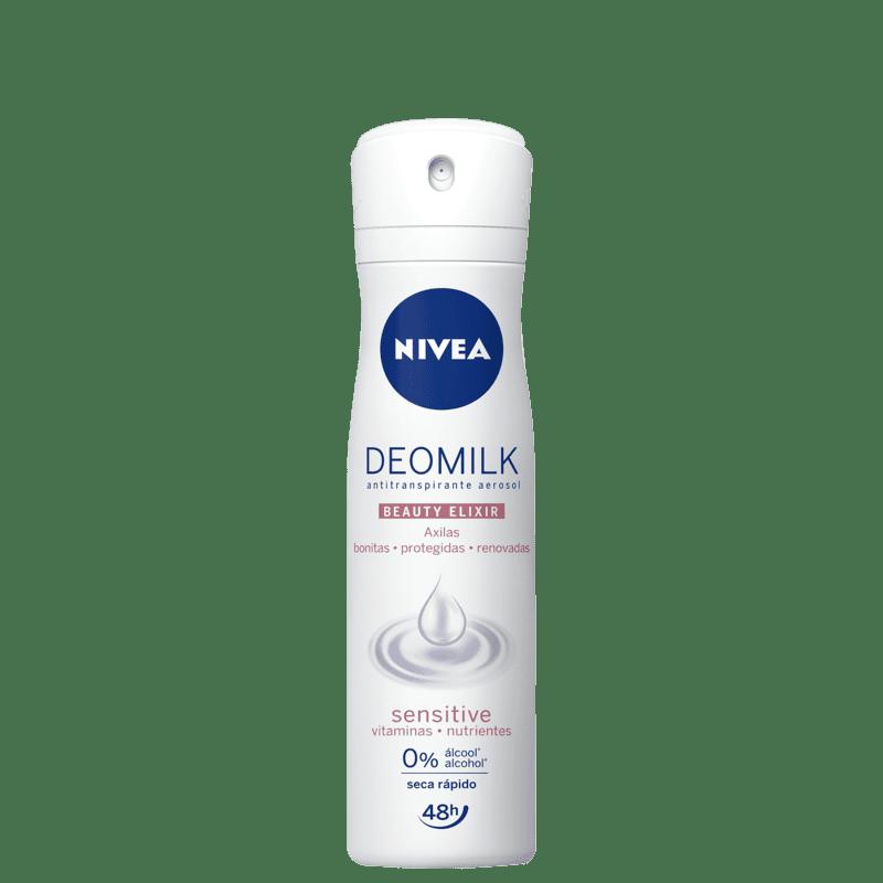 NIVEA Deomilk Beauty Elixir Sensitive Aerossol - Desodorante Feminino 150ml