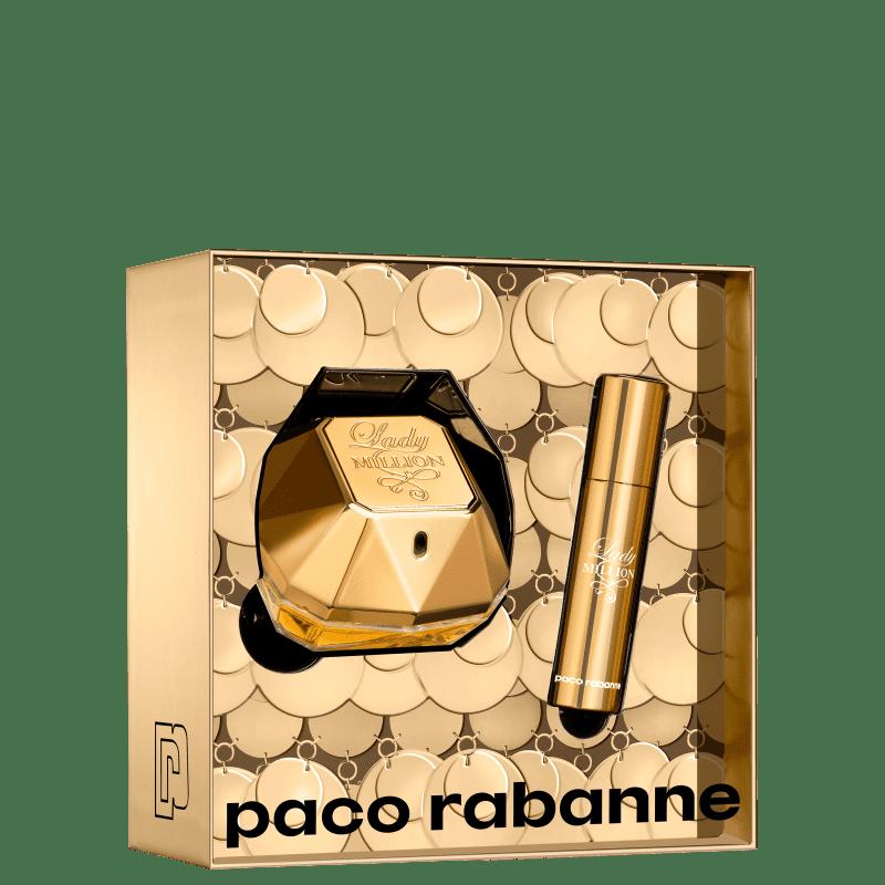 Conjunto Lady Million Travel Paco Rabanne Feminino - Eau de Parfum 50ml + 10ml