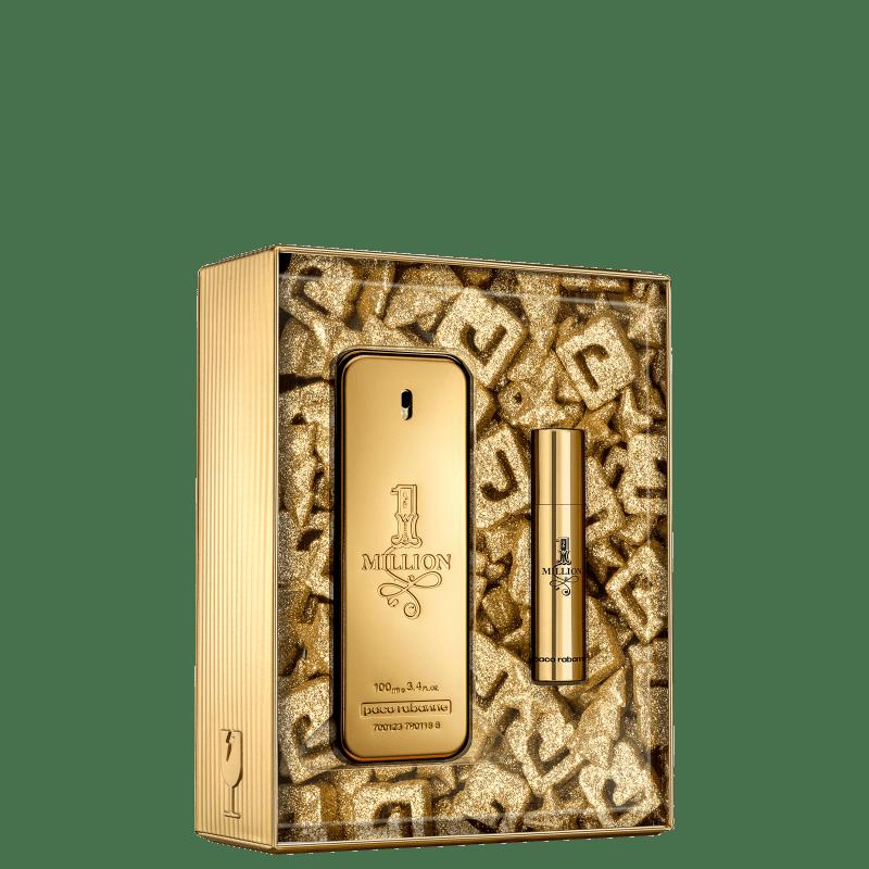 Conjunto 1 Million Xmas Collector Paco Rabanne Masculino Eau de Toilette - Perfume 100ml + Travel Size 10ml