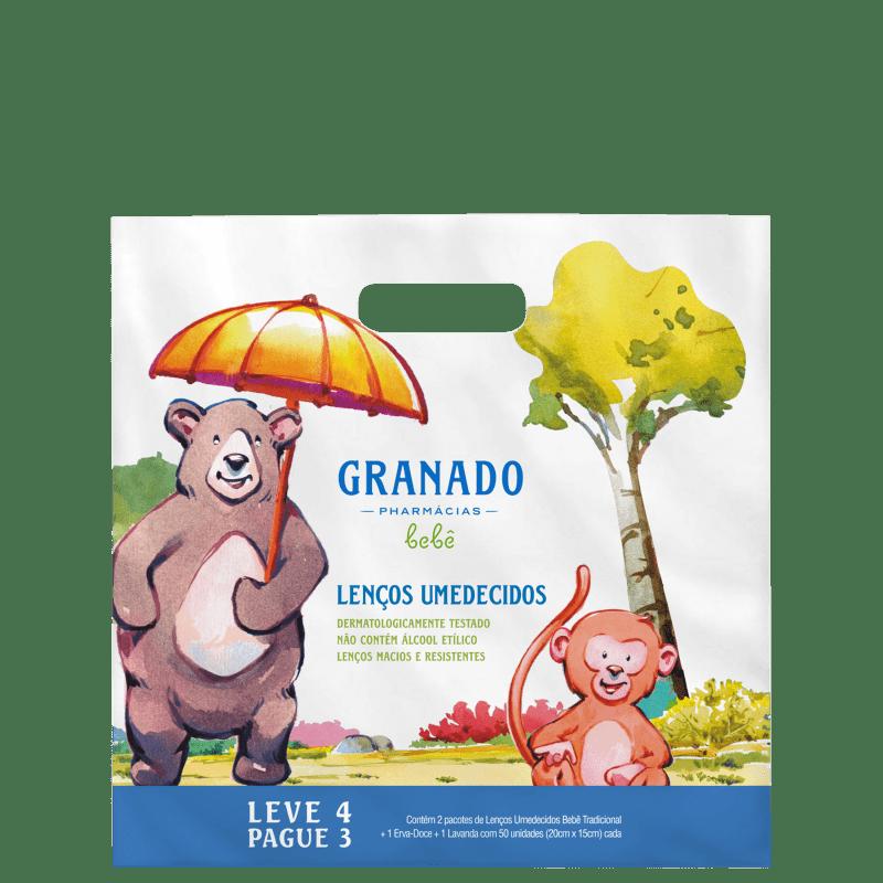 Kit Granado Bebê Lenços Umedecidos (4 Produtos)