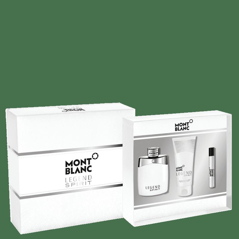 Kit Legend Spirit Montblanc Masculino Eau de Toilette 100ml + Travel Size 7,5ml + Pós-Barba 100ml