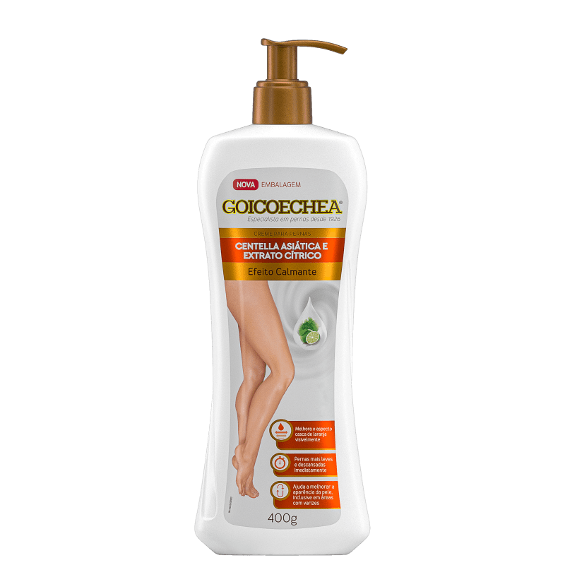 Creme Hidratante Goicoechea Centella Asiática e Extrato Cítrico 400g