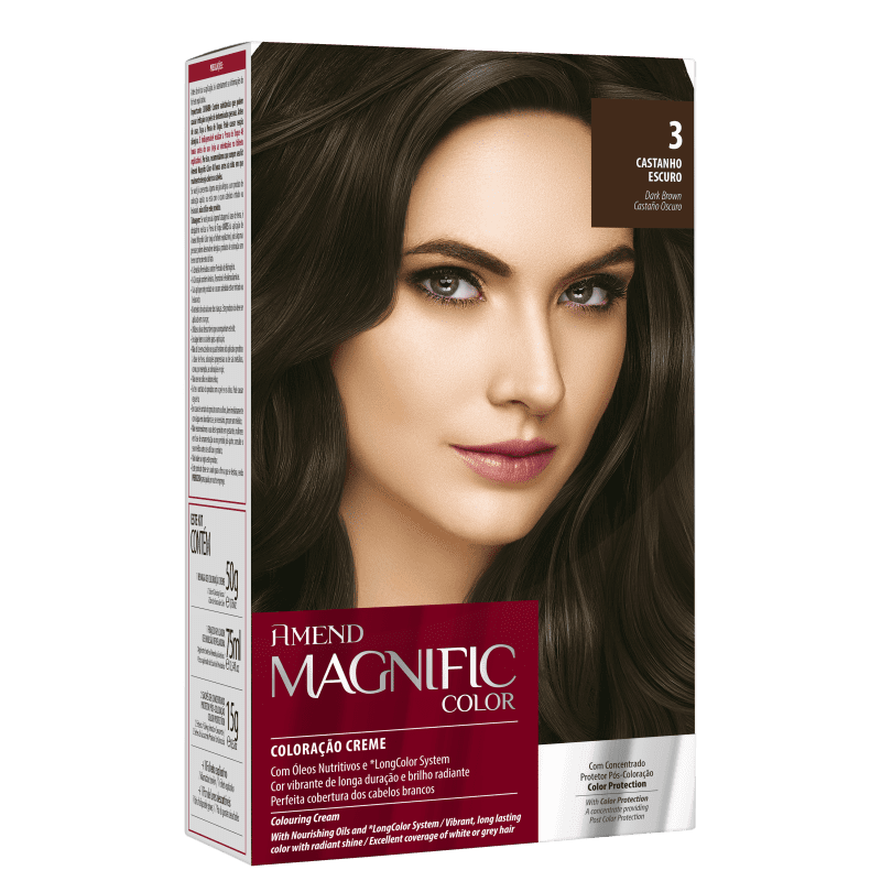 Amend Magnific Color 3 Castanho Escuro - Coloração 200g