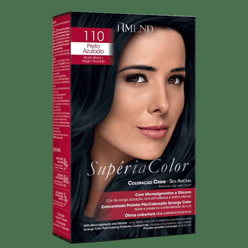 Amend Supéria Color 110 Preto Azulado - Tonalizante