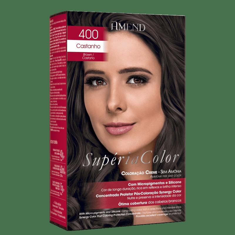 Amend Supéria Color 400 Castanho - Tonalizante