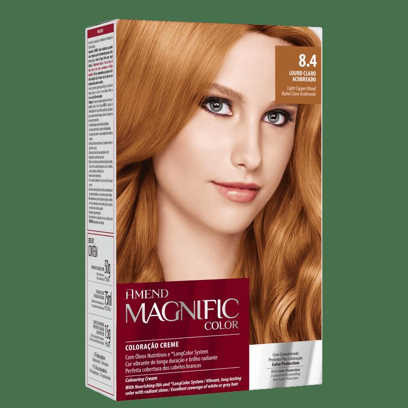 Amend Magnific Color 8.4 Louro Claro Acobreado - Coloração 200g