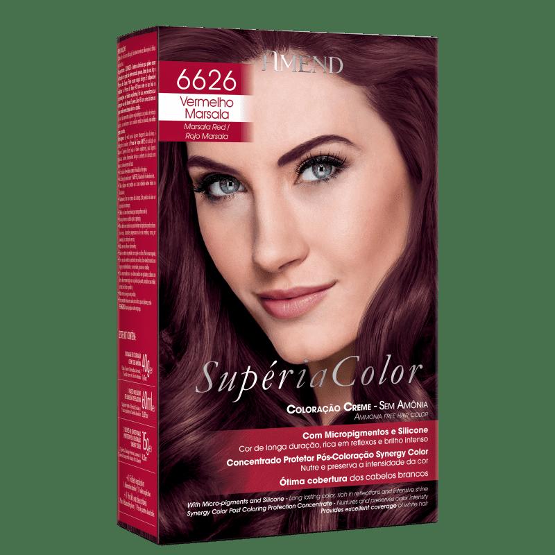 Amend Supéria Color 6626 Vermelho Marsala - Tonalizante