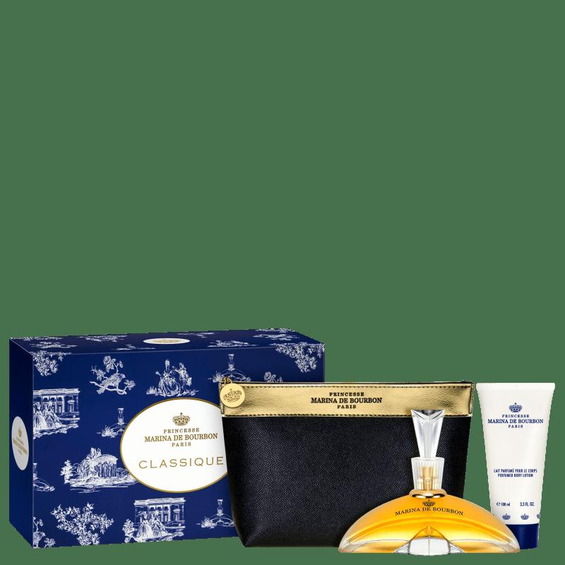 Conjunto Classique Marina de Bourbon Feminino - Eau de Parfum 100ml + Loção Corporal 150ml + Nécessaire