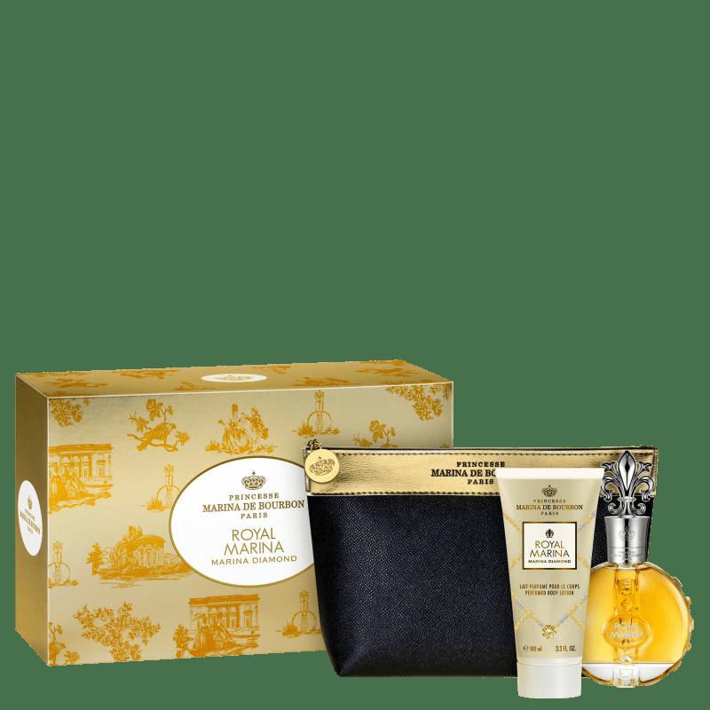 Conjunto Royal Marina Diamond Marina de Bourbon Feminino - Eau de Parfum 100ml + Loção Corporal 150ml + Nécessaire