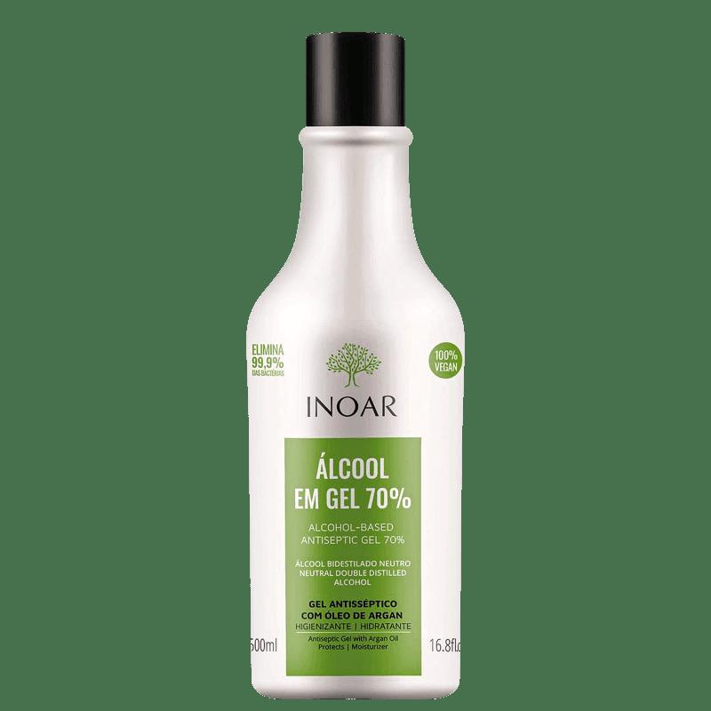 Inoar Álcool em Gel 70% - Antisséptico 500ml