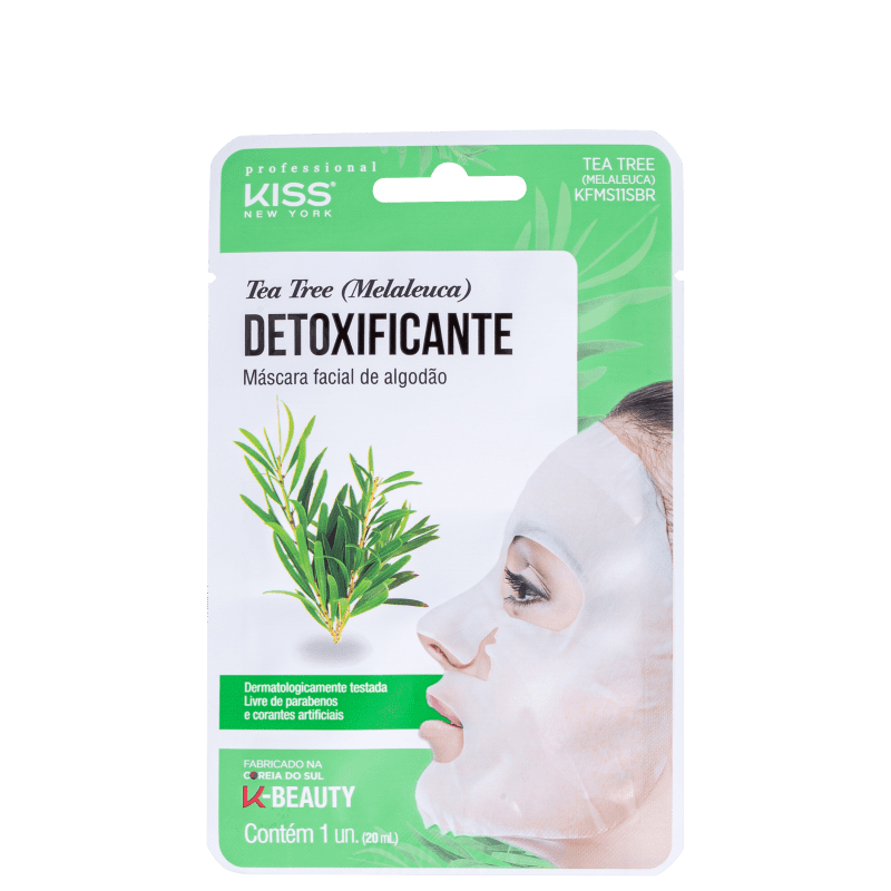 Kiss New York Tea Tree Detoxificante - Máscara Facial 20ml