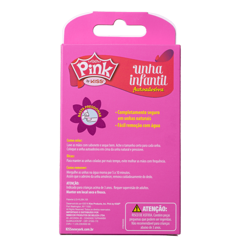 Kiss New York Pink Infantil Sweetness - Unhas Postiças 4g