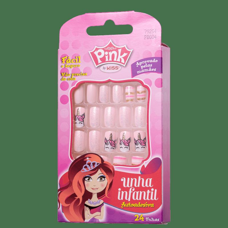 Kiss New York Pink Infantil Unicorn - Unhas Postiças 4g