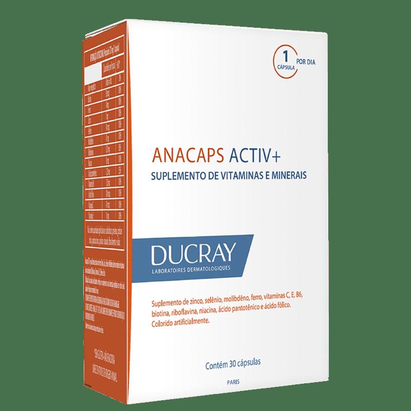 DUCRAY Anacaps Activ+ Antiqueda - Suplemento Vitamínico (30 Cápsulas)