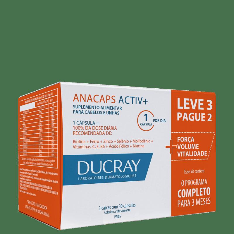 Kit DUCRAY Anacaps Activ Antiqueda 3x30 Cápsulas