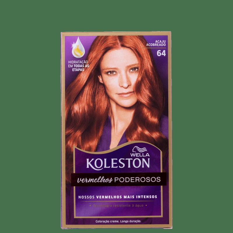 Koleston 64 Acaju Acobreado - Coloração Permanente