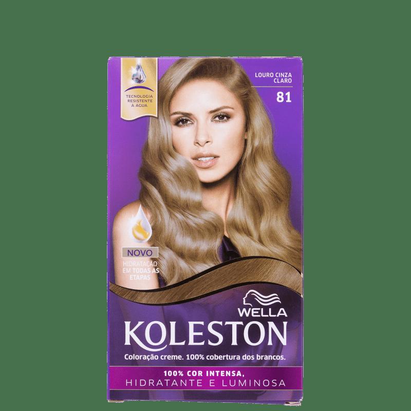 Koleston 81 Louro Cinza Claro - Coloração Permanente