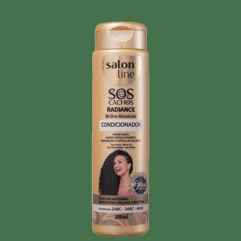 Salon Line S.O.S Cachos Radiance Brilho Absoluto - Condicionador 300ml