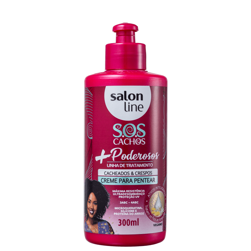 Salon Line S.O.S Cachos + Poderosos Cacheados & Crespos - Creme de Pentear 300ml