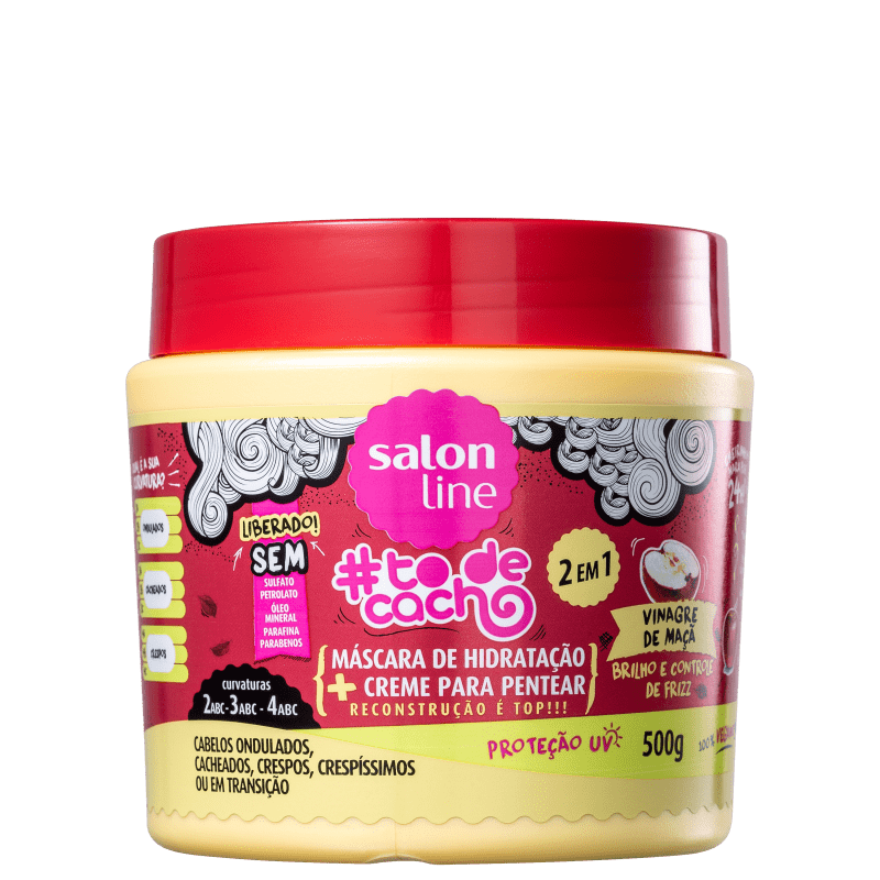 Salon Line #Todecacho Vinagre de Maçã 2em1 - Máscara Multifuncional 500g
