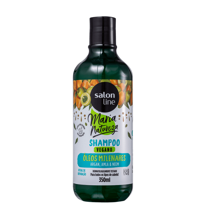 Salon Line Maria Natureza Óleos Milenares - Shampoo 350ml